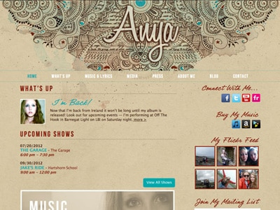 Anya Parker-Lentz Website Design
